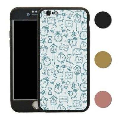 Clock 360° Case & Tempered Glass Cover For iPhone - S2573