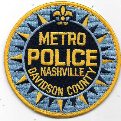 """Police Patch: Metro Davidson County Nashville Tennessee Police Measures 4"""""""