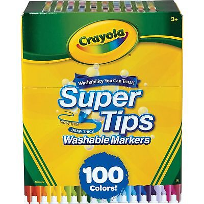 Crayola Markers Super Tips Washable 100/ST Assorted 585100