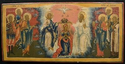 Russian icon,Ikone,Mother of God,The coronation as queen of heaven,18th century