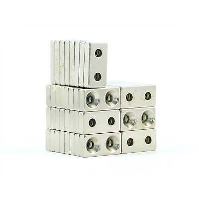 N38 20mm x10mm x5mm countersunk 2 hole neodymium block magnet DIY cheap VarPacks