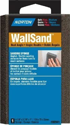 Norton 00941 Wallsand Two Angle Sanding Sponge Fine Grit, Medium