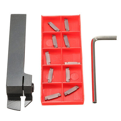 MGEHR1616 Parting Off Turning Tool Holder with 10pcs MGMN200 Carbide Inserts