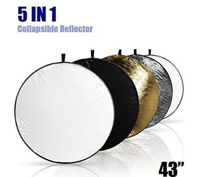 New LS 43 Inch 5-in-1 Collapsible Multi-disc Light Reflector