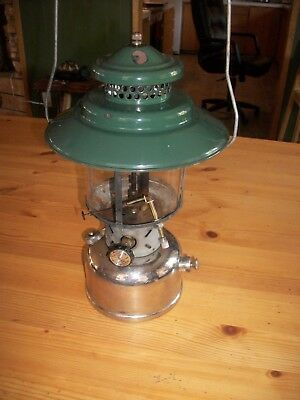 1950 Coleman 228D Nickel Plated (Chrome) Big Top Lantern Marked B-50