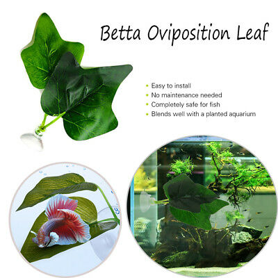 Hammock Rest Aquariums Decor Fish Oviposit Bed Artificial Plant Betta Leaf