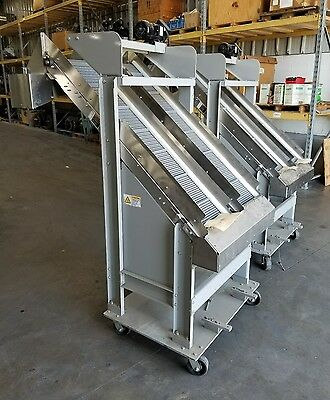 """Inclined Cleated Conveyors 12"""" Stainless Food Grade """"SHIPPING AVAILABLE"""" #3073SR"""