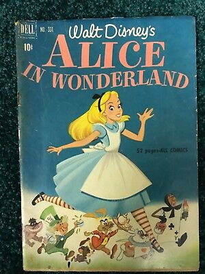 Walt Disney's Alice in Wonderland - Dell Four Color  #331 - 1951
