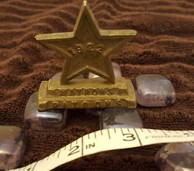 Vintage Order of the Eastern Star Masonic Brass 1922