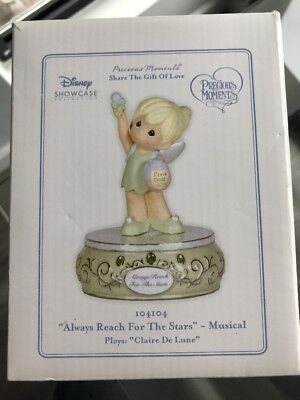 NEW Tinkerbell, Precious Moments, Disney, Always Reach For The Stars 104104