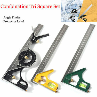 New Protractor Level Adjustable Measure &Combination Tri Square Set Angle Finder