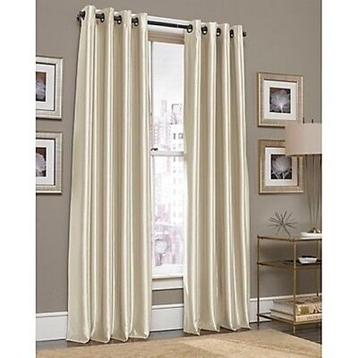 "J. Queen Gardnera 95"", 1 Grommet Top Window Curtain Panel - Natural"