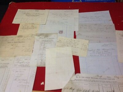 Old Bristol and Clifton Documents ,Letterheads Inc, 1846-86 Duplication Wine Tea