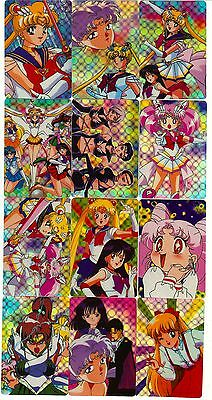 Sailor Moon Prism Mercury Mars Sticker Card Set of 46 - Anime Animation Lot