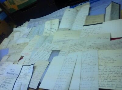 A ,Old Documents, Receipts Letters Etc Bottom  Of Box Mix ,plenty Of Sorting ,