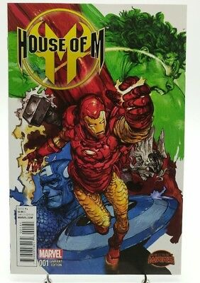 House of M #1 Manga Variant Cover Iron Man Marvel Comics Secret Wars 2015