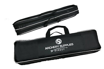 ASD Archery Take Down Recurve Bow Case Black 70cm W/ 2 Pockets & Carry Handle