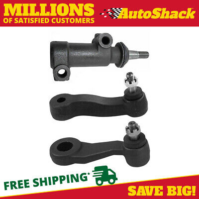 Set of (2) Idler Arms and (1) Pitman Arm fits Cadillac GMC or Chevrolet