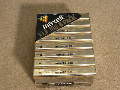 Cassette Tapes MAXELL XLII 100 NEW Sealed 8-pack High Bias made in Japan