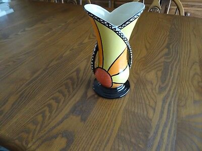 Lorna Bailey Sunburst Two Handled Vase