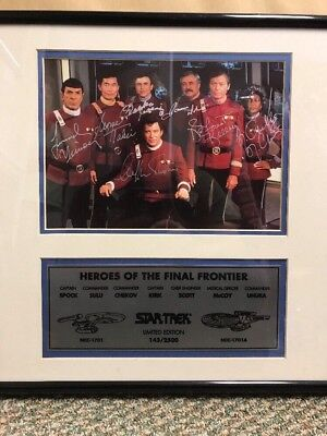 Star Trek Heroes Of The Final Frontier Photo Autographed Cast #143/2500 Spock