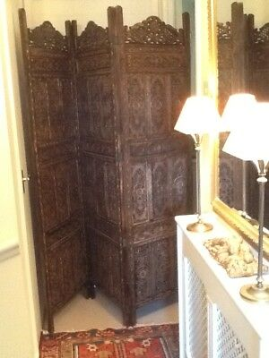 Beautiful And Authentic Indian Screen/room Divider.  Approx. 75 Years Old.