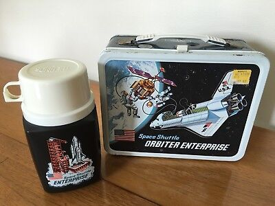 Vintage 1977 Space Shuttle Orbiter Enterprise Lunchbox / Thermos. Very Nice!!