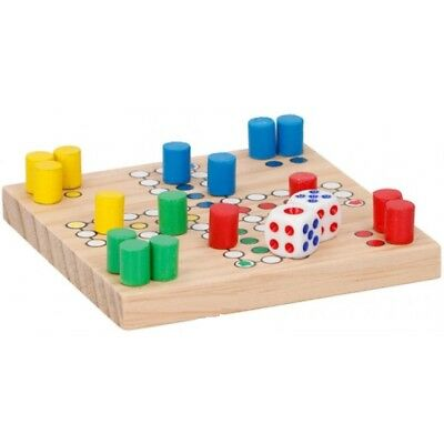 Wooden Travel Ludo Game Traditional Board Game Fun Family Holiday Compact