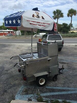 Mobile Hot Dog Cart Trailer Food Vending ..very cool cart. everything works well