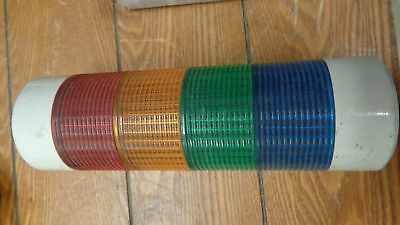 Patlite Light Tower 4 Lights Blue, Green, Amber, Red 24v AC/DC