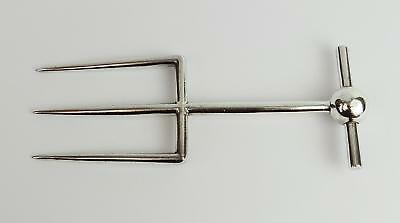 Stylish VICTORIAN SILVER PLATE MEAT SERVING FORK William Hutton & Sons c1890