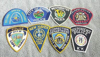 Lot of 8 Police Sheriff Fire EMS Patches Various Agencies 8/18 - 008
