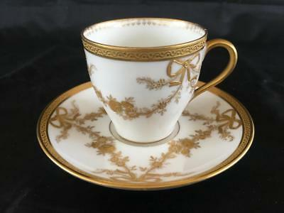 VERY FINE FRENCH LIMOGES Wm GUERIN & Co PORCELAIN CUP AND SAUCER.