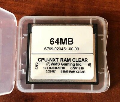 WMS BB1 BB2 RAM CLEAR CARD FOR ALL BOARDS! V1810 Software Slot machine
