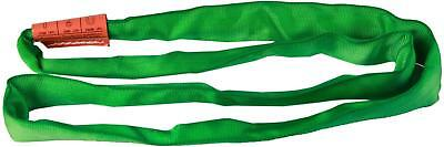 "AMH DR Polyester Round Sling, Endless, Green, 8' Length, 1-3/4"" Width, 5300 lbs"