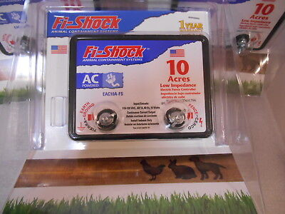Fi-Shock EAC10A-FS Electric Fence Energizer, 10-Acre Low Impedance
