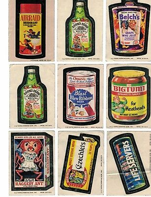 1973 1974 Topps Wacky Packages 22 Mainly DIFFERENT STICKER Series 5 - 10 Lot