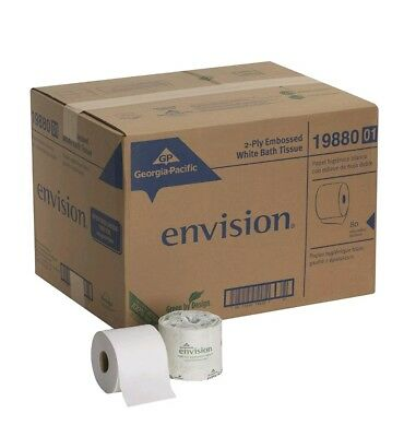 Georgia Pacific Envision Toilet Tissue, 2-Ply, 550 Sheets, 19880/01 - Case of 80