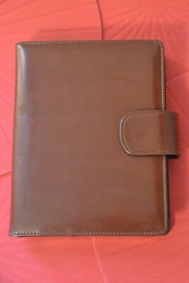Porta agenda in pelle e Carte Marrone