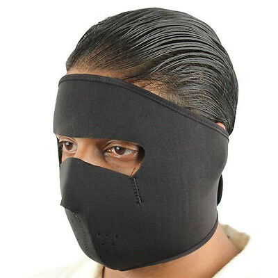 Sports Motorcycle Biker Neoprene Face Cold Weather Ski Mask Stealth Black