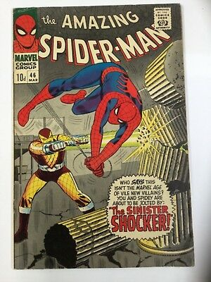 "THE AMAZING SPIDER-MAN ORIGINAL US MARVEL COMIC ""The Sinister shockers!"" #46"