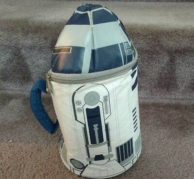 Star Wars Disney Thermos Kids School Insulated Lunch Box Bag R2D2