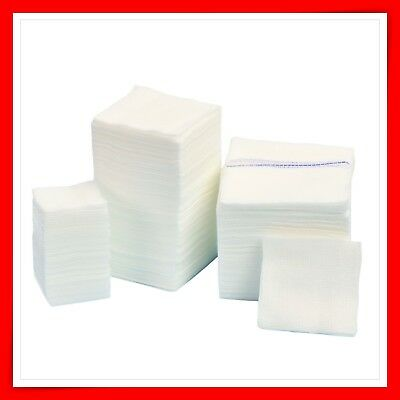 AID GAUZE PADS SWABS DRESSING ABSORBENT NON STERILE 8ply THICK! ALL SIZES ! FAST