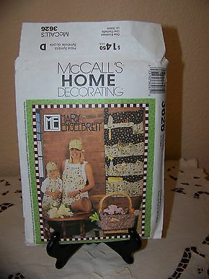 McCalls Engelbreit #3626 Hat/Apron/Organizer/Pillows/Basket Liner/Totes Pattern