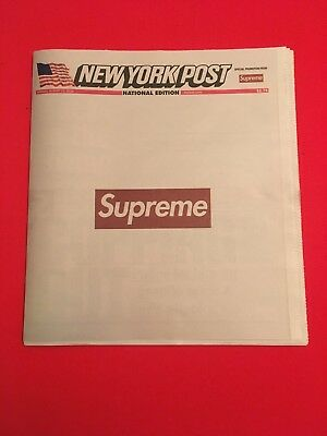 NEW YORK POST x SUPREME NEWSPAPER - (LA Edition)  IN HAND READY TO SHIP
