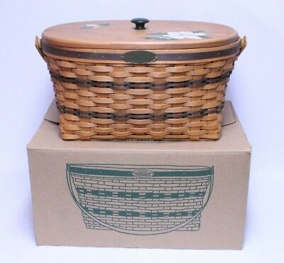 Longaberger Traditions Collection 1995 Family Basket W/ Lid In Box