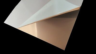 "Copper Sheet Metal 16 Ounce (0.0216""/24 Gauge) 6"" x 5"""