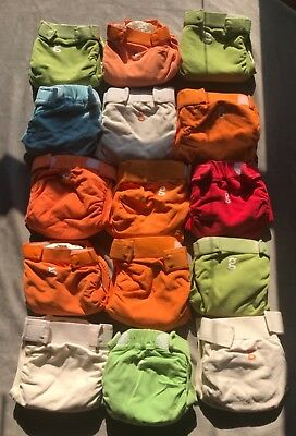 15 GDiapers Small with Removable Liners and 6 Baby City Diapers with Liners
