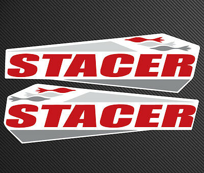 Stacer Replacement Sticker Set 40cm Wide Gloss Laminated Decals 2 Pack #S017