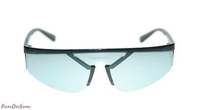 e6a9b8d7c84aa Versace Designer Sunglasses VE4349 52811U Grey Blue Mirror Silver Lens 39mm